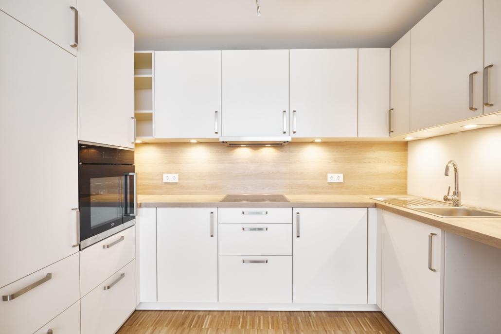 Halboffene Küche zum Wohnzimmer