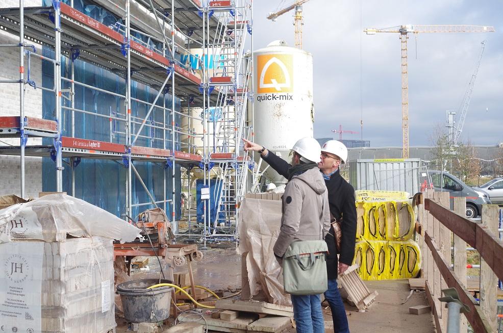 FESTLAND-Baustellen-Besichtigung durch das Leuchtfeuer-Team, 27.02.20
